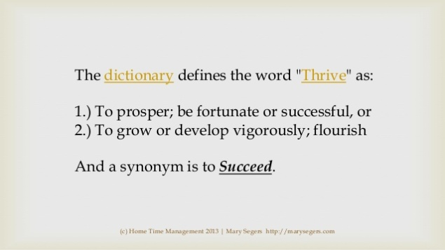 thrive dictionary