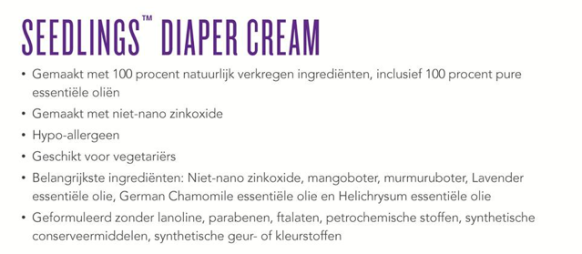 Seedlings-Diaper-cream-ingredienten